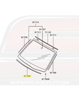 MB419223 Mitsubishi OEM Windshield Foam Lower Spacer for