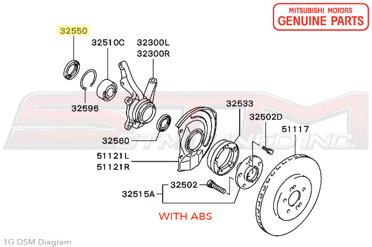 Pleasing Mb573309 Oem Mitsubishi Front Wheel Hub Oil Seal 1G Dsm Wiring Database Unre4X4Andersnl