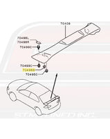 Mitsubishi OEM Rear Spoiler Grommet for Evo 7/8/9/X Image © STM Tuned Inc.  Part Number MB645307