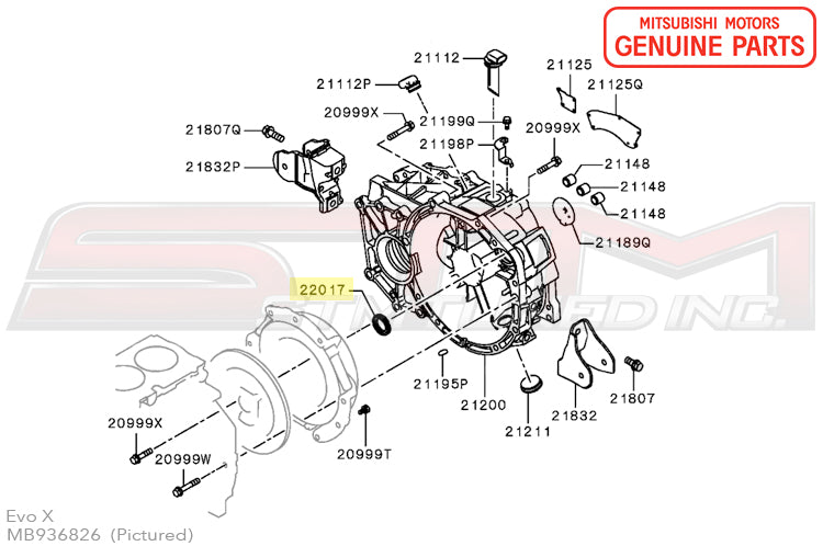 Mb936826 Oem Mitsubishi Manual Transmission Input Shaft Seal