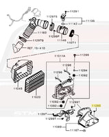 MB938520 Evo X Air Intake Diagram