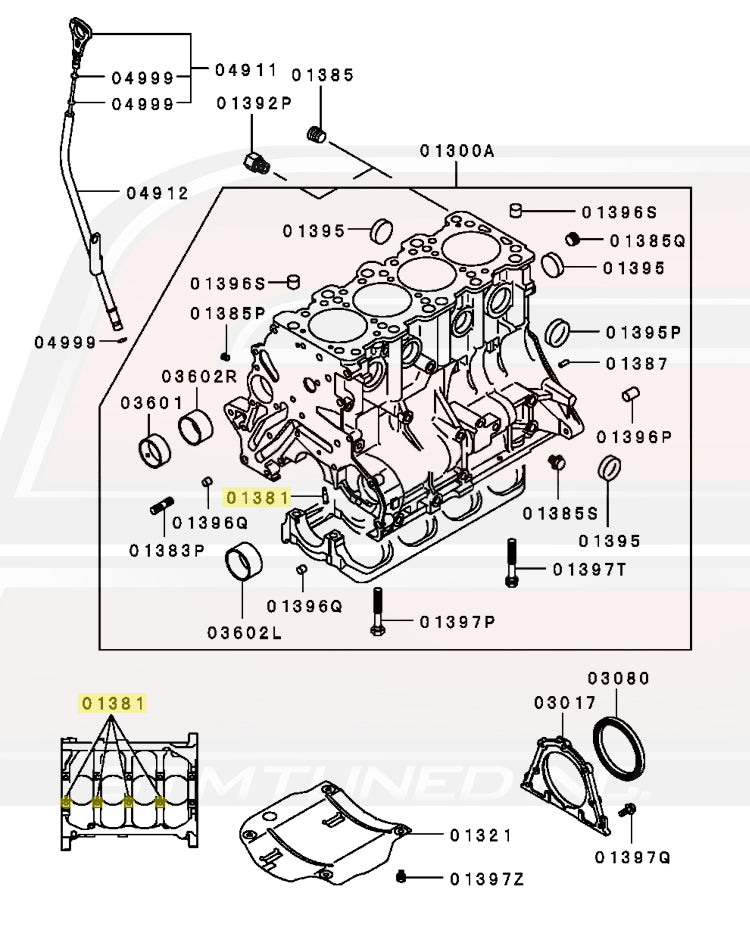 MD109259 Mitsubishi OEM Oil Jet Squirter for 2G DSM and 3000GT