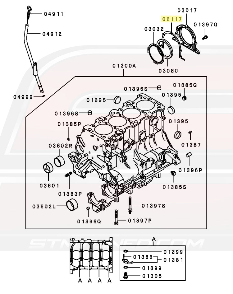 MD183243 Mitsubishi OEM Rear Main Seal Housing Gasket for