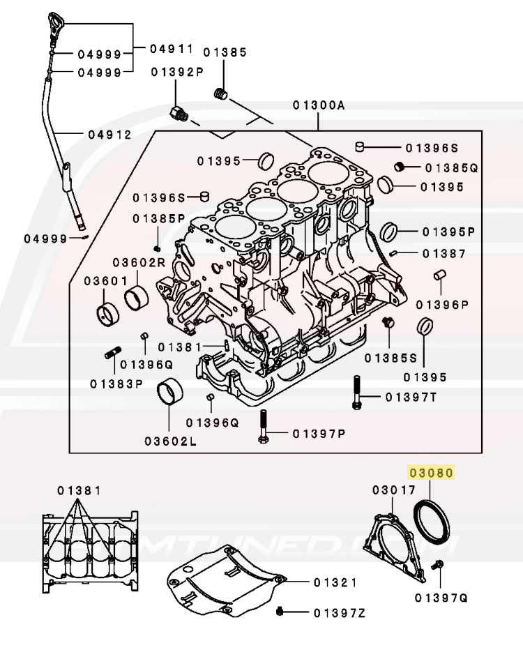 Md359158 Oem Mitsubishi Rear Main Seal 7