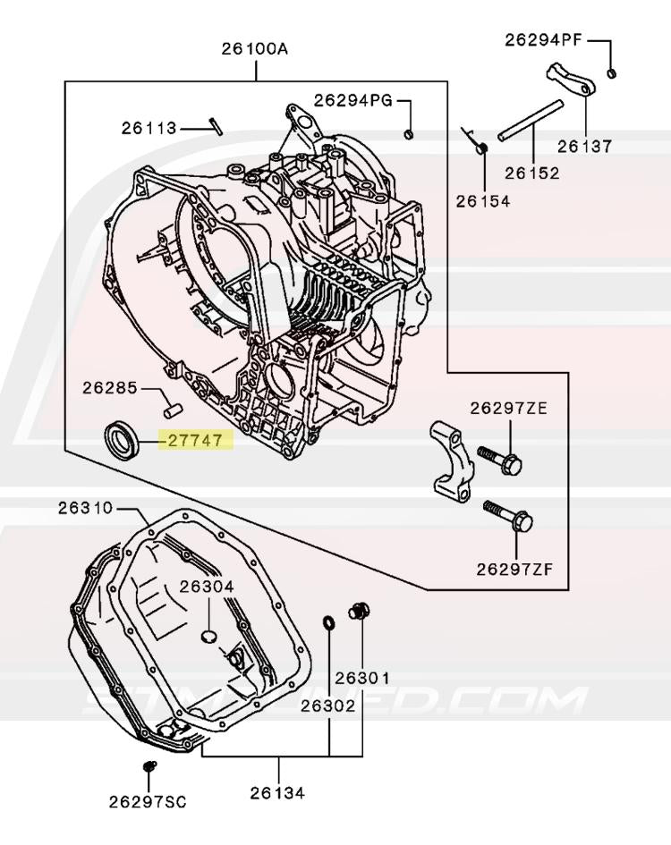 MD731793 OEM 1G/2G DSM Auto AWD Front Diff Oil Seal