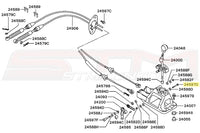 Mitsubishi OEM Shifter Link Bolt Diagram