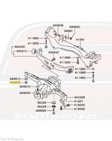Rear Diff Support Diagram for Evo 8/9 © STM Tuned Inc.