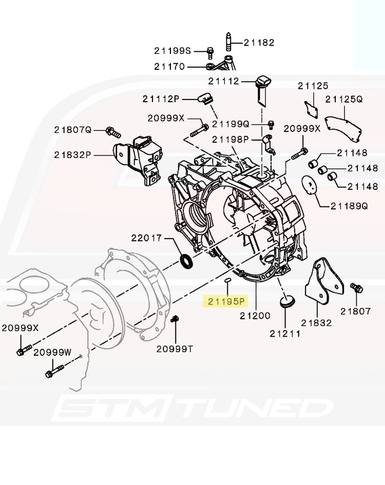 MF665535 Evo 8/9/X Transmission Case Seal Cap
