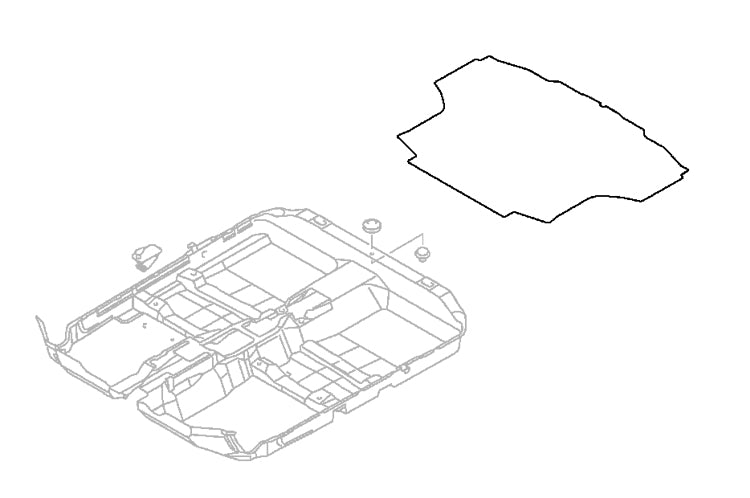 MN124891 OEM Evo 8/9 non SSL Trunk Carpet (Without Subwoofer)
