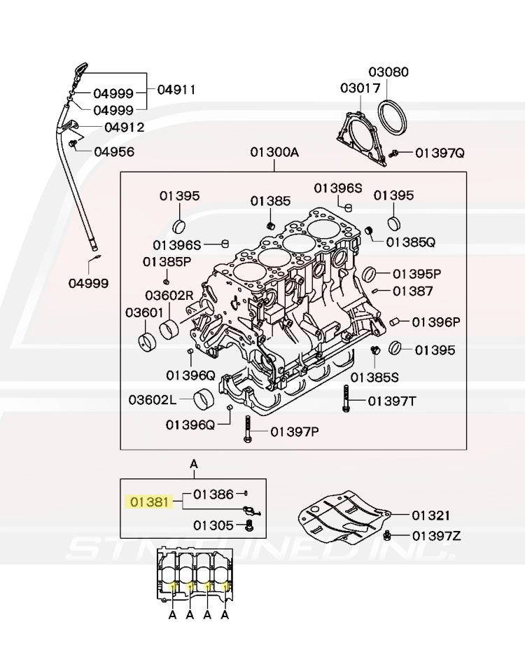 MN143460 Mitsubishi OEM Oil Jet Squirter for Evo 8/9