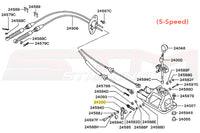 Mitsubishi OEM Shifter Gear Select Lever for 5-Speed Evo 7/8/9 Diagram Image © STM Tuned Inc.  Part Number MR246298