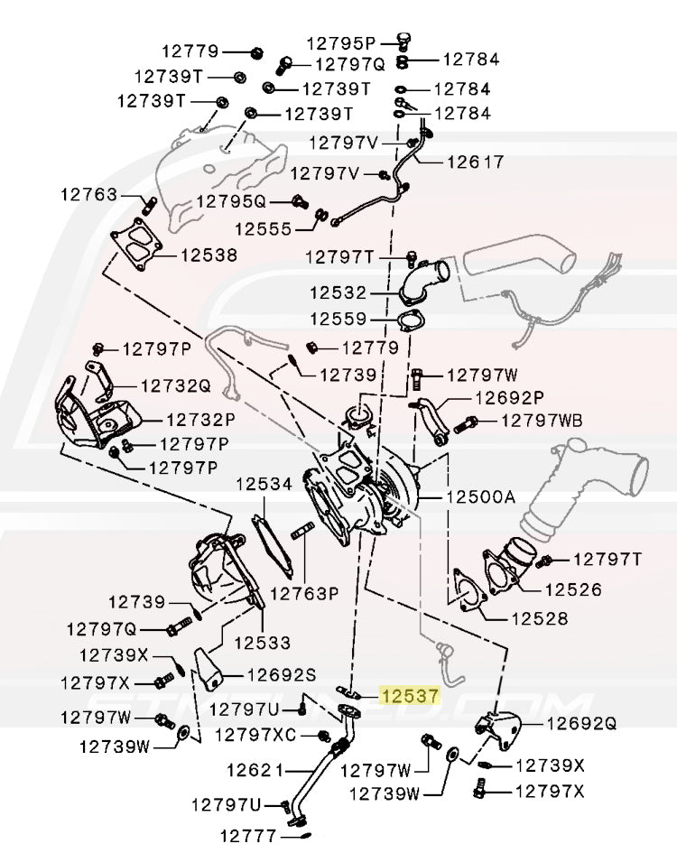 MR258477 OEM Mitsubishi Turbo Oil Return Line Gasket