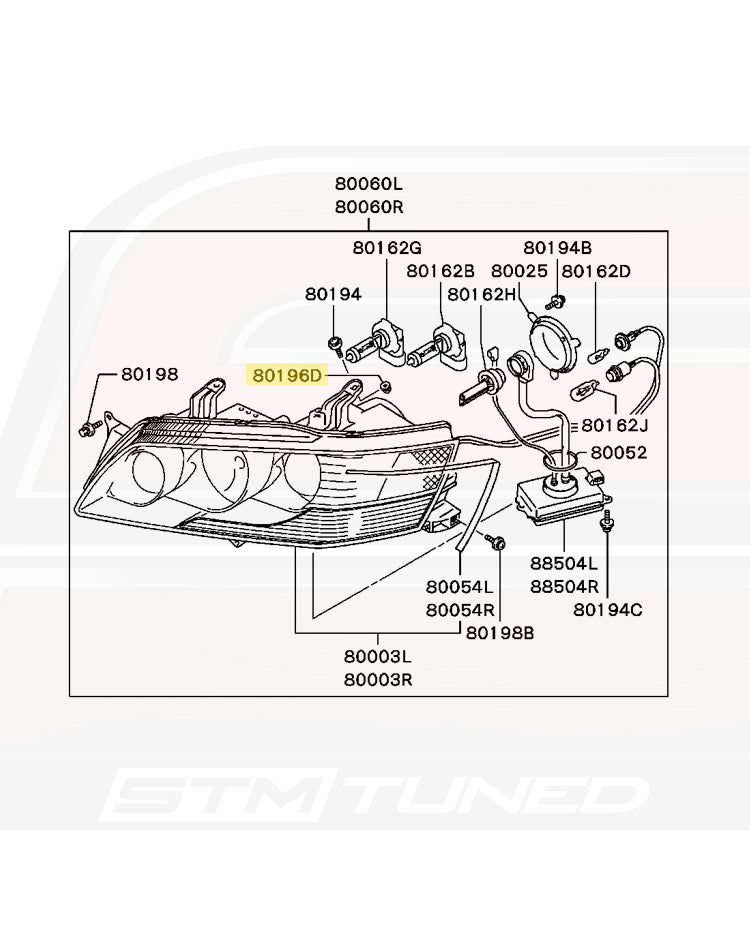 MR393386 Evo 7/8/9/X Bumper and Headlight Retaining Clip