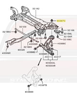 Mitsubishi OEM Front Suspension Lower Arm to Crossmember Nut for Evo X Image © STM Tuned Inc.  Part Number MU000567