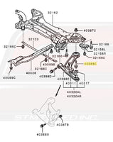 Mitsubishi OEM Front Suspension Lower Arm Bolt for Evo X Image © STM Tuned Inc.  Part Number MU000611