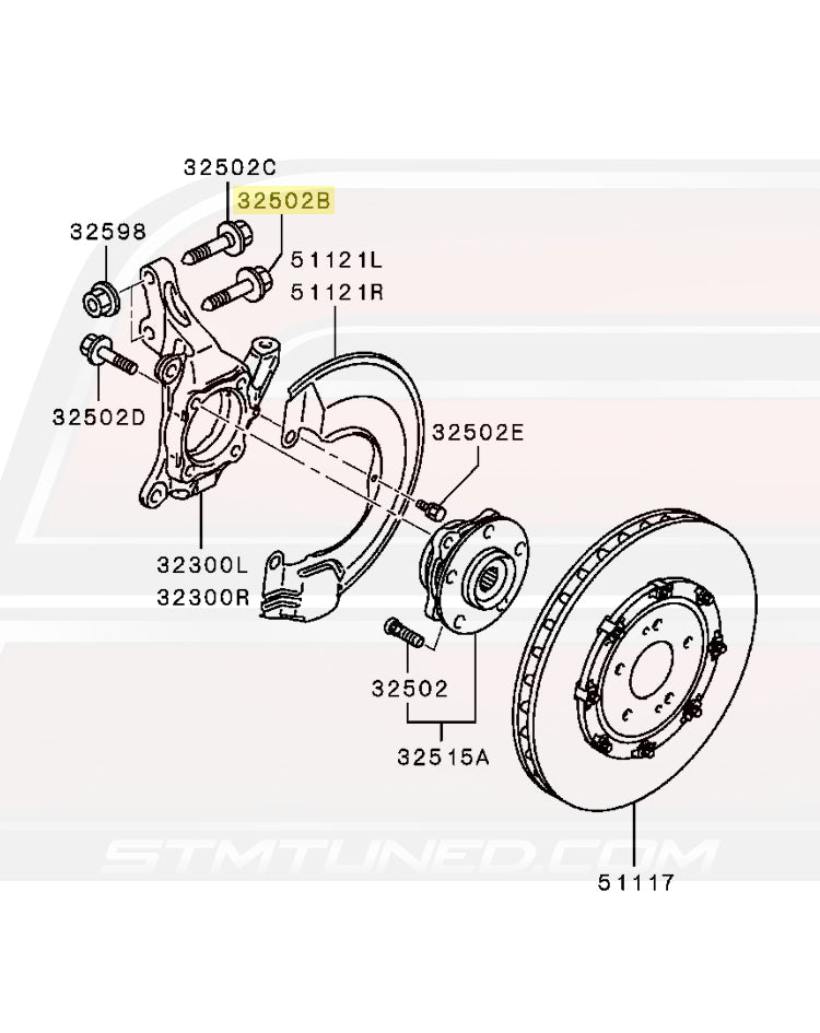 Surprising Mu140067 Oem Evo 7 8 9 X Front Wheel Hub Bolt Wiring Database Unre4X4Andersnl
