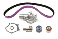 STM 1G 6-Bolt DSM Timing Belt Kit with Purple HKS Belts with Water Pump and NO Balance Shaft
