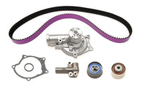 STM 1G 7-Bolt DSM Timing Belt Kit with Purple HKS Belts with Water Pump and NO Balance Shaft