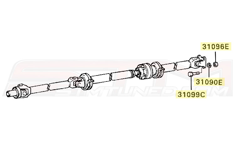 Mitsubishi DSM & Evo 7/8/9 Driveshaft to Rear End Bolt Kit