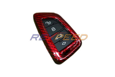 Rexpeed Red Carbon Fiber Key FOB for 2020 Supra (TS16R)