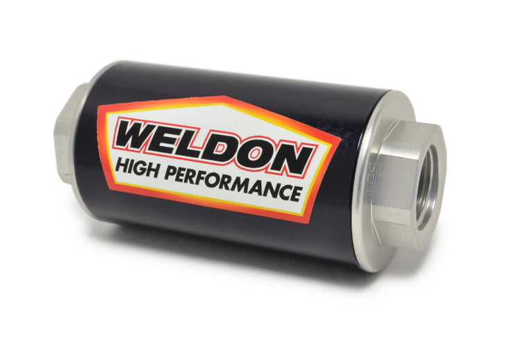 Weldon Racing Fuel Filter with 100 Micron Stainless Filter (Pre-Pump Placement)
