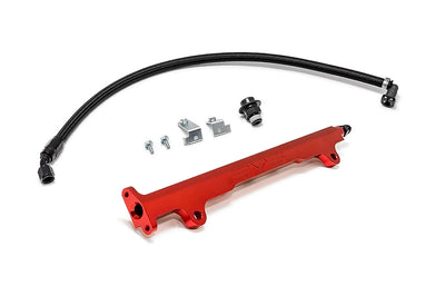 AMS Evo X Fuel Rail Kit (Red)