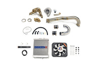 Evo 7 8 9 Turbo Kit with small radiator and silver wastegate