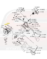 Mitsubishi OEM Water Pump Bolt Diagram 2012-2015 Evo X