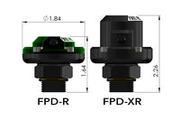 Size difference between the FPD-R and FPD-XR