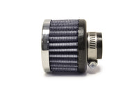 5/8 Inch Rubber Base Blue Breather Filter with Chrome Top