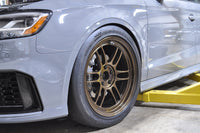 RS3 Drag Brake Kit with Scalloped Rotor Installed with RPF1's and Hoosier Drag Radials