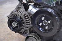 STM 10% Under-Driven Alternator Pulley with Raised Guides installed on an Evo 9