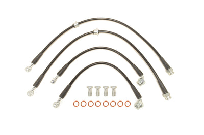 STM Black Brake Lines for Evo 7/8/9