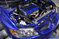 Evo 7 8 9 Stock Replacement Exhaust Manifold installed on the dyno