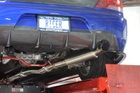 STM Titanium CatBack Exhaust Installed on a 2005 Electric Blue Evo 8 with JDM 9 Rear Bumper