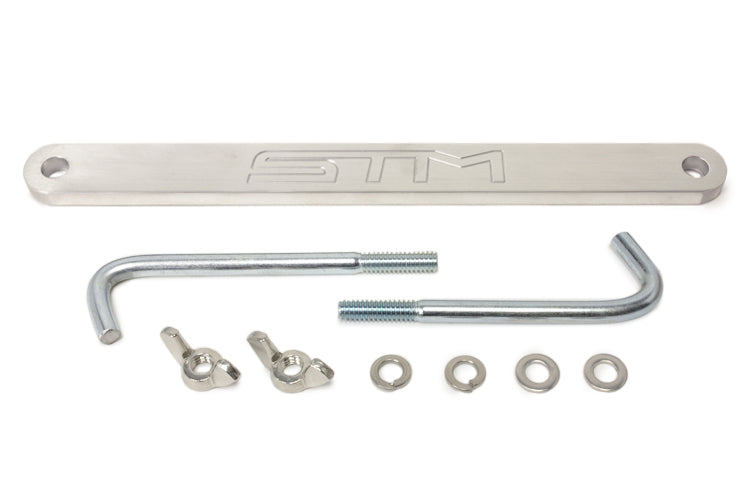 Evo X Small Battery Tie Down Kit Brushed Aluminum