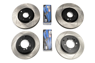 Evo X Brake Package - StopTech Rotors with Hawk HPS Pads