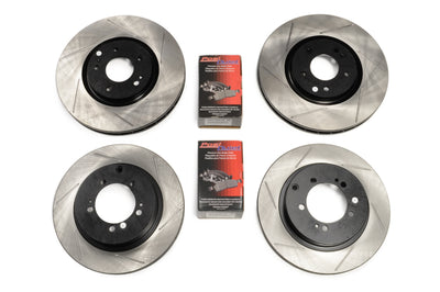 STM Evo X Stopping Kits - StopTech Rotors with PosiQuiet Pads