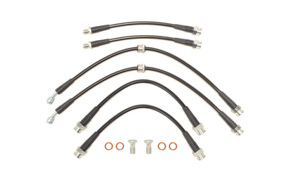 STM Black Brake Lines for JDM Evo 4/5/6
