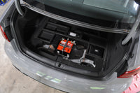 Audi RS3 STM Battery Kit Installed in Trunk