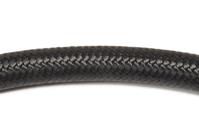 Vibrant Black Nylon Braided Flex Hose