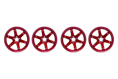 Volk TE37 SL Red Set of 4 Wheels (15x8+32 5x114.3)