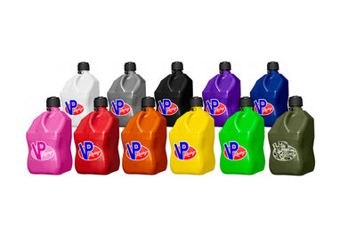 VP Racing 5-Gallon Square Jug Colors