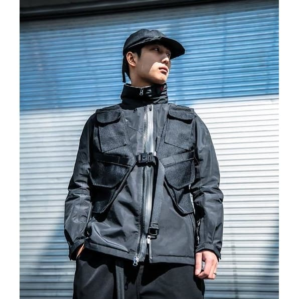Covert Tactical Vest - Aesthetic Homage  | Techwear | Noragi | Lhamo | Men's Kimono