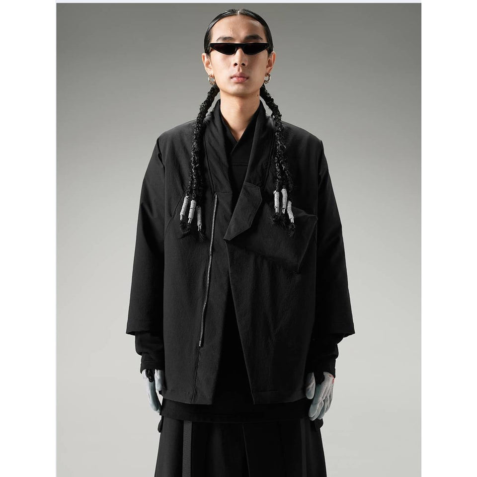 City Hanten Jacket - Aesthetic Homage  | Techwear | Noragi | Lhamo | Men's Kimono