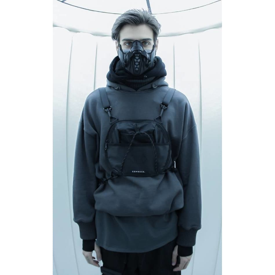 Cyber Breathe Mask - Aesthetic Homage  | Techwear | Noragi | Lhamo | Men's Kimono