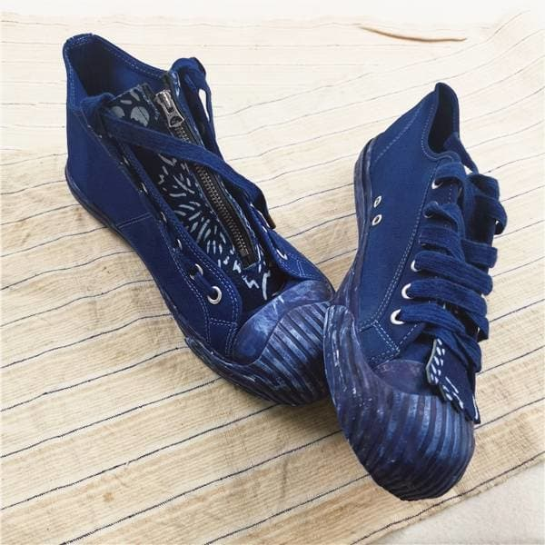 Indigo Canvas Sneakers