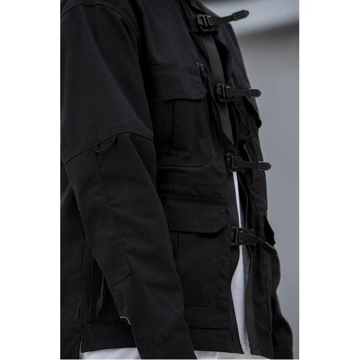 FOG-S03 Tactical Jacket - Aesthetic Homage  | Techwear | Noragi | Lhamo | Men's Kimono
