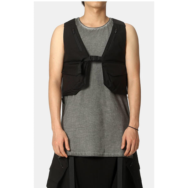 NS-204 Tactical Vest - Aesthetic Homage  | Techwear | Noragi | Lhamo | Men's Kimono
