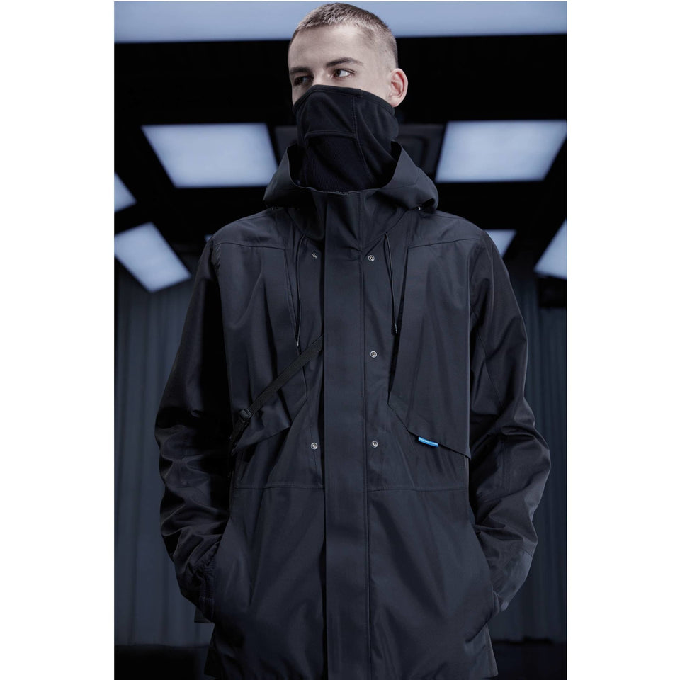 3 in 1 Hard Shell Waterproof Jacket - Aesthetic Homage  | Techwear | Noragi | Lhamo | Men's Kimono